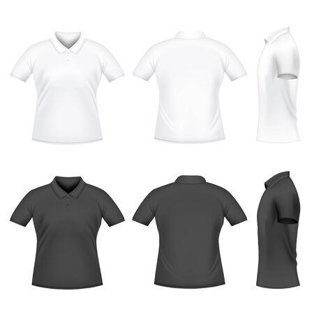 Mens polo t-shirts Vector