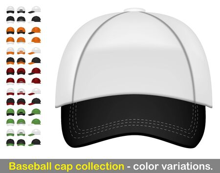 sport wear: Baseball cap mega collection Illustration