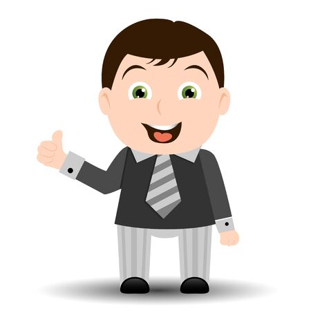happiness or success: Businessman cartoon showing ok sign