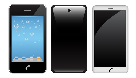 Vector touch screen smart phone Stock Vector - 9857885