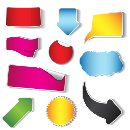 gradient: Vector sticker and tag collection, set of 10 pieces