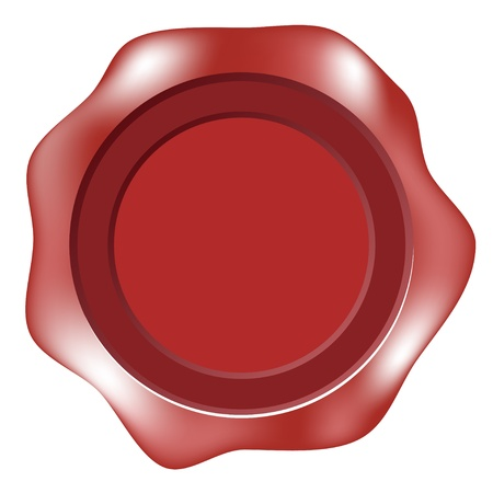 Blank wax seal or label Vector