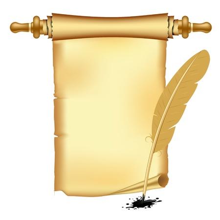 rękopis: Archiwalne przewijania papieru, Wtapianie Ilustracja