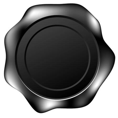 tampon cire: Sceau de cire noire - autocollant