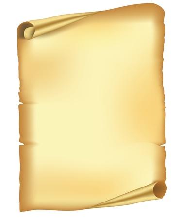 papiro: Vecchia carta strappata scorrere