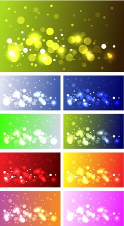 Sparkling background collection bokeh effect Vector