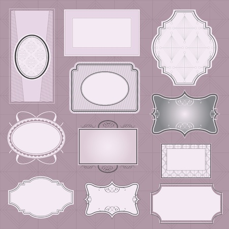 Ornate vector frames   Vector