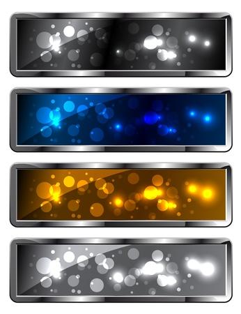 Modern metal sparkling festive backgrounds - frames Vector