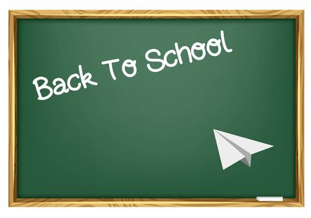 Back To School - Blackboard & Paper Plane Stock Vector - 10215366