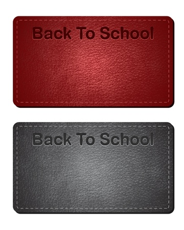 Leather Back To School Cards - Backgrounds Vector