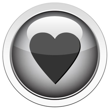 follow icon: Heart - follow icon Illustration