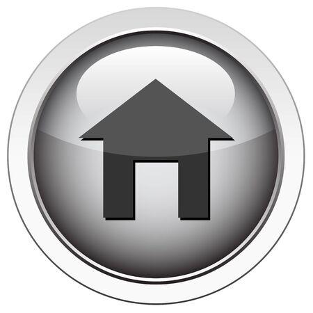 installateur: Home icon Stock Illustratie