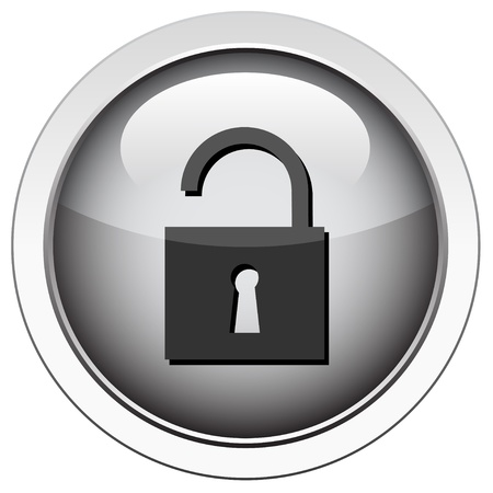 padlock icon: Padlock unlocked icon Illustration