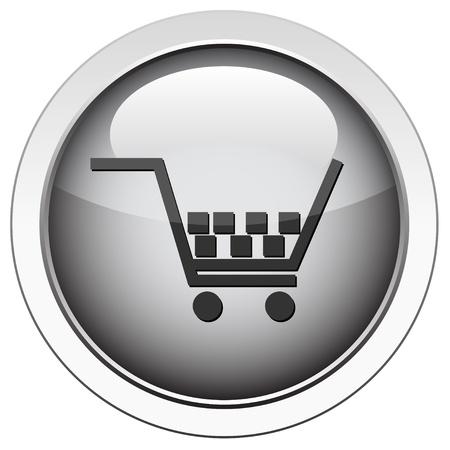 Shopping cart icon  Stock Vector - 10215405