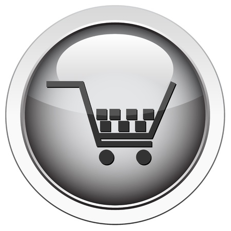 3d dimensional: Shopping cart icon  Illustration