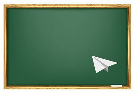 Blackboard & Paper Plane Stock Vector - 10253717