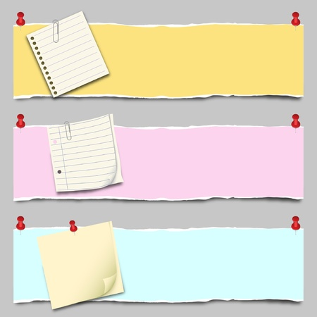 Back to school - Paper Banner Set Vector