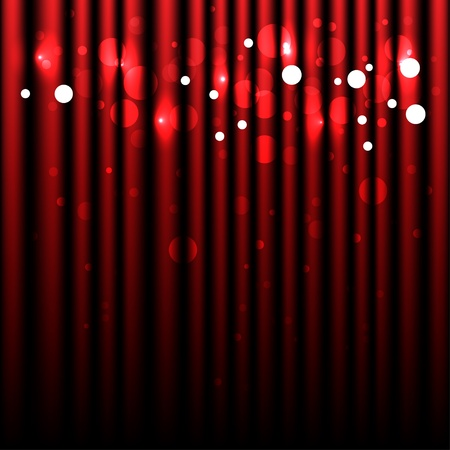 Sparkling Red Background - Curtain Stock Vector - 10281757