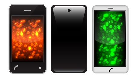 touch screen phone: touch Screen Phone With Colorful Screen Illustration