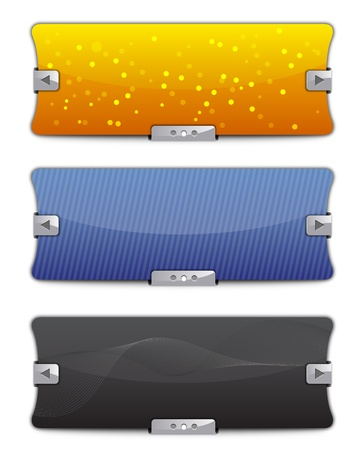 Web Sliders - Backgrounds Vector