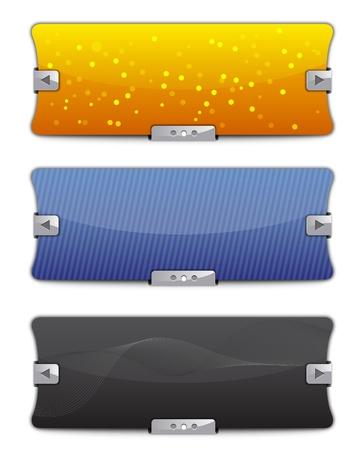 website buttons: Web Sliders - Backgrounds Illustration