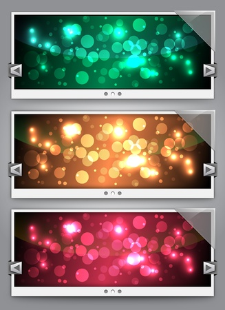 Web Sliders With Glass - Backgrounds Stock Vector - 10281758