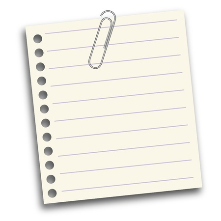 carta da lettere: Carta da lettere Bianco - 3 Vettoriali