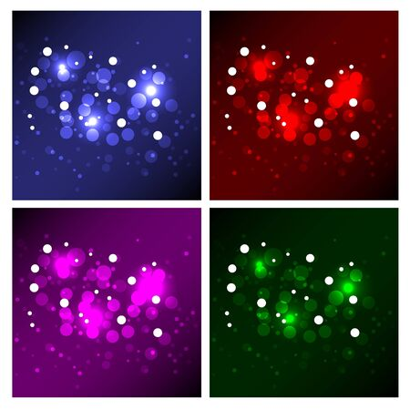 Sparkling Magic Background Collection Stock Vector - 10310339