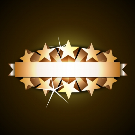 prize: Shiny Ribbon With 3d Stars Illustration