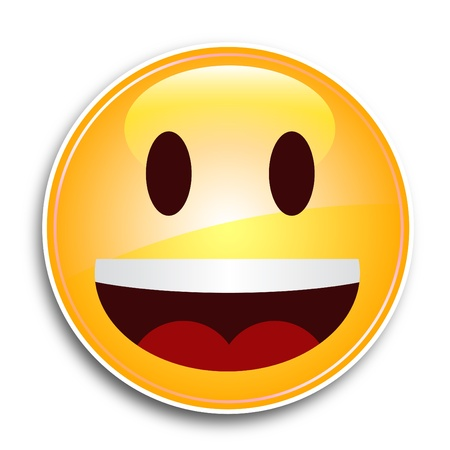 convivialit�: Visage tr�s heureux