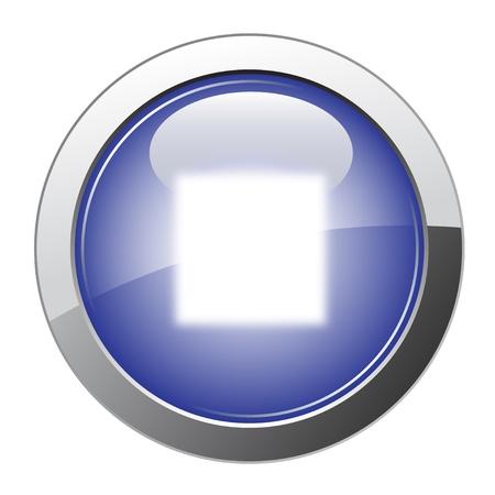boton stop: Bot�n de parada de brillante azul
