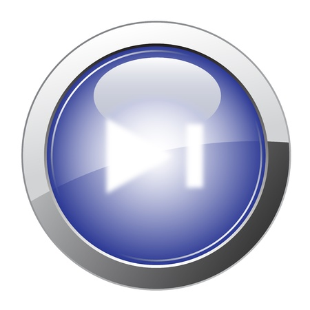 inactive: Blue Glossy Forward Button