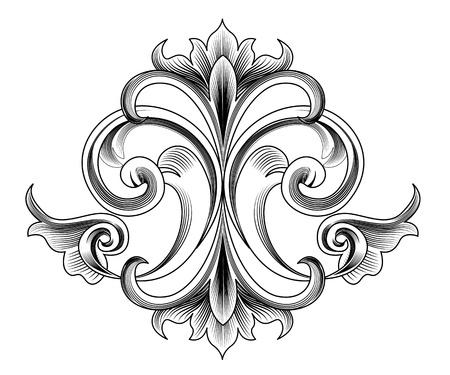 Victoriaanse stijl Vector decoratie - gravure Vector Illustratie