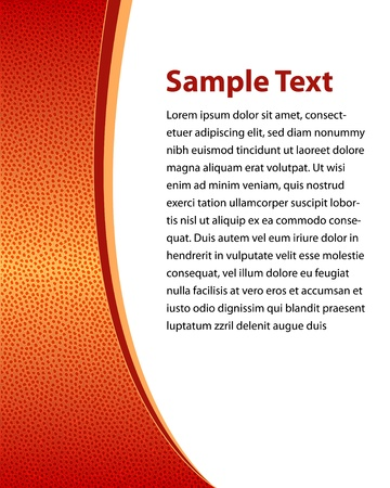 Background With Basketball Texture Vector