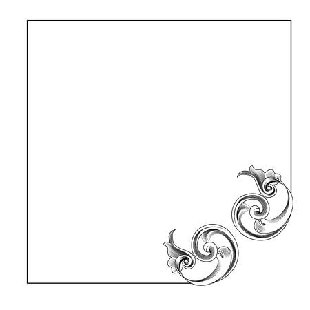 Victorian Style Corner Decoration Stock Vector - 10392305