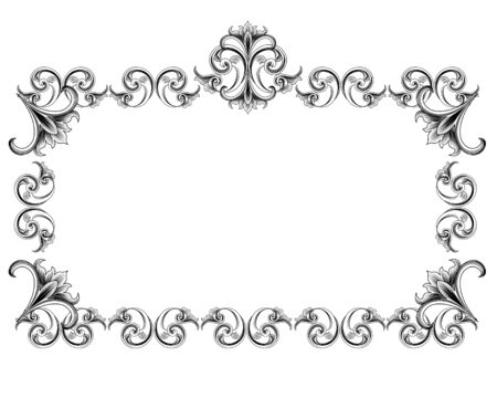 royal frame: Victorian Style Frame Illustration