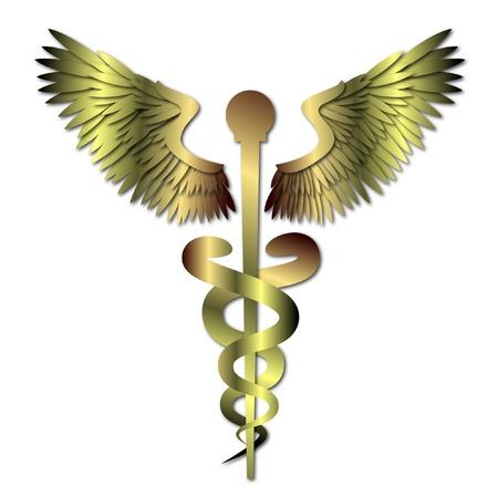 aesculapius: Medico Caduceo simbolo Vettoriali
