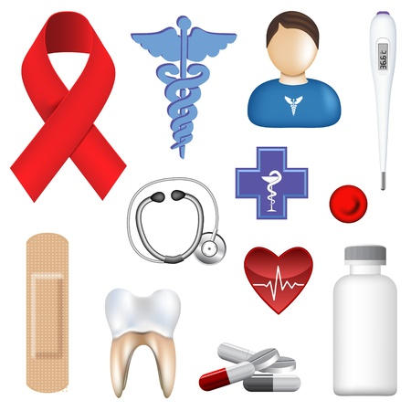 medical injection: Vector Medical Object Collection Illustration