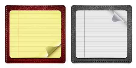 Small Notepads With Some Leather Stock Vector - 10562614