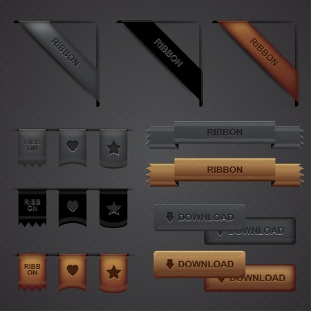 Modern Proffesional Web Design Elements Vector