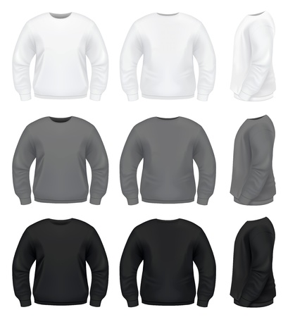 long sleeves: Realistic Men