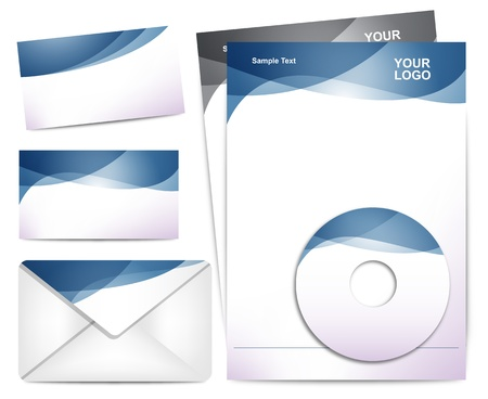 Stylish Proffesional Identity Templates Vector