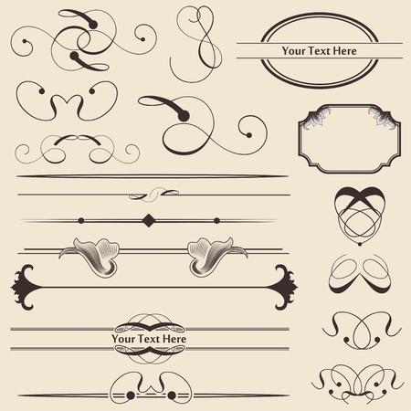 виньетка: Каллиграфии украшения Page & Design Elements