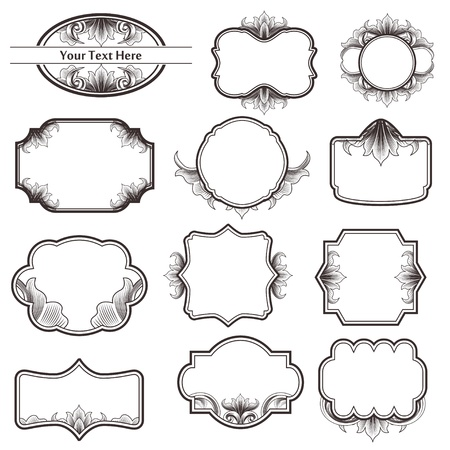Vintage Ornate Frame Collection Stock Vector - 10931592