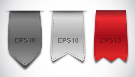 Bookmarks - Ribbons Vector