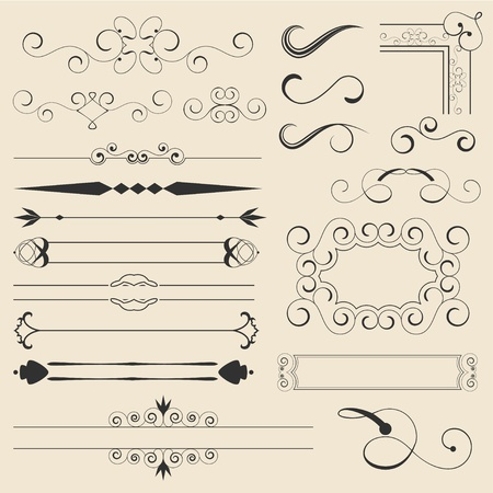 Calligraphic Design Elements Stock Vector - 11002272