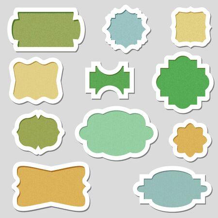 Colorful Vector Frames Vector