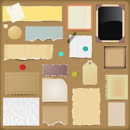 notepaper: Vector Scrapbooking Elements - Papers Illustration