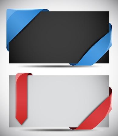 ribbons vector: Vector Ribbons Illustration