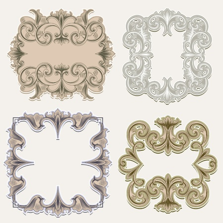 scroll shape: Victorian Frames Illustration